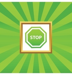 STOP picture icon vector image