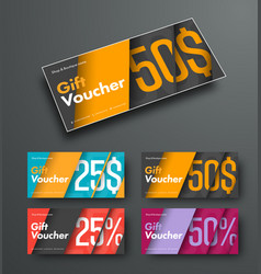 template of gift vouchers in the style of vector image