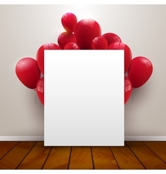 Template poster in interior background with red vector