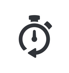 timer icon timer symbol pictogram isolated icon vector image