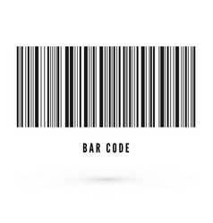 unique bar code template information about vector image