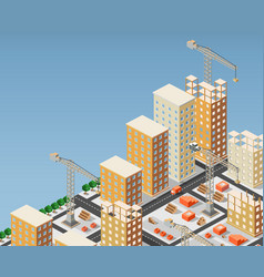 urban construction vector image