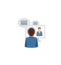 video conference or video call concept vector image
