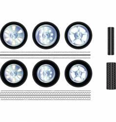 wheels auto vector image vector image