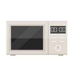 White microwave isolated vector