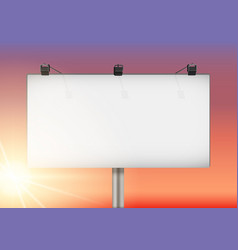 closeup empty mockup billboard vector image vector image
