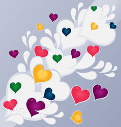 hearts abstract background vector image vector image