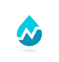 letter n water drop logo icon design template vector image