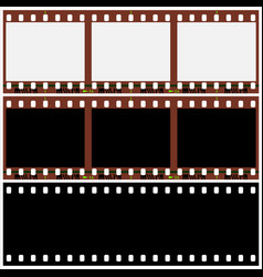 photographic film vector image vector image