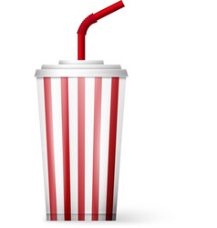 soda fountain drink isolated on white background vector image