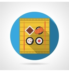 Sushi menu flat color icon vector image