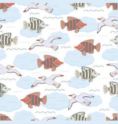 underwater 10 vector image vector image
