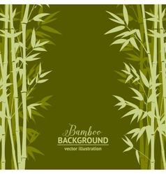 Bamboo forest card vector image