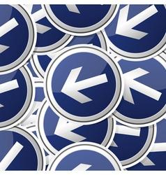 Danger symbol traffic board collection set vector image vector image
