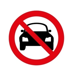 Dont parking signal icon vector