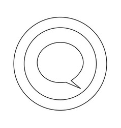 figure symbol with chat bubble icon vector image vector image