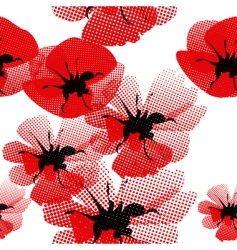 floral seamless pattern with poppy vector image vector image