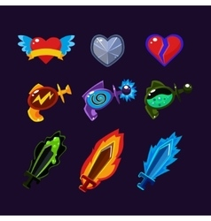 Game Resources Icons vector image vector image