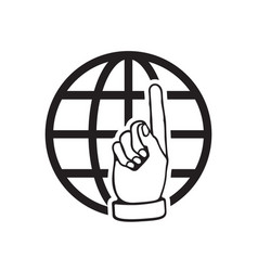 Go to web icon internet flat for website on white vector