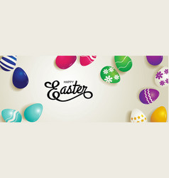 happy easter typography vector image