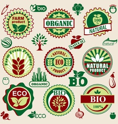 healthy natural label vector image
