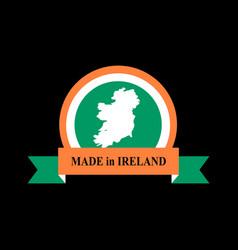 mde in ireland emblem irish flag sign national vector image vector image