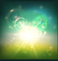 blurred greenish background vector image vector image