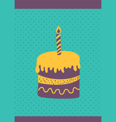 cake card vector image