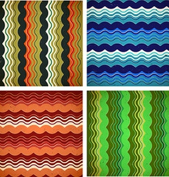 Collection of aged wavy patterns vector image
