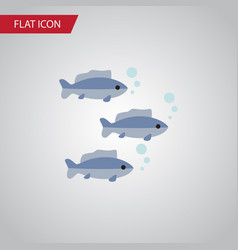 isolated fish flat icon tuna element can vector image vector image
