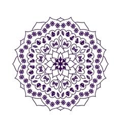 Mandala with Christmas elements vector image vector image
