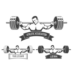 Powerlifting Athletic Logo Set vector image vector image