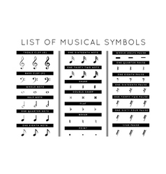 set of musical symbols vector image vector image