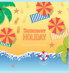 summer party poster vector image