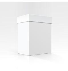 White Carton box in Perspective Close up Isolated vector image
