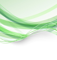 Border bright folder green swoosh background vector image vector image