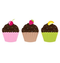 Cupcake Labels vector image vector image