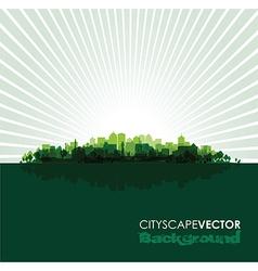 green cityscape vector image vector image
