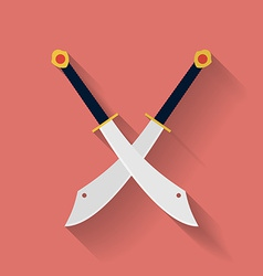 Icon of ancient swords Flat style vector image vector image