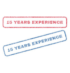 15 years experience textile stamps vector