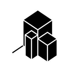 3d chart black icon concept vector image