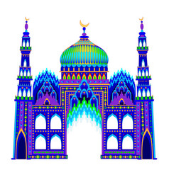 A fantasy oriental castle eastern fairy tale on vector