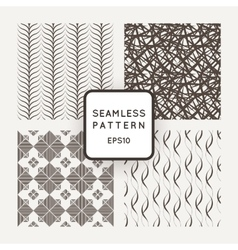 A set of four seamless patterns Waves vector image