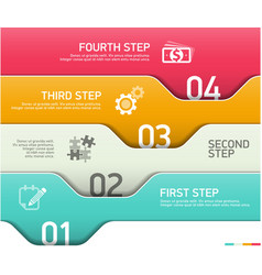 Abstract infographics steps design template vector image