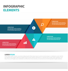 abstract triangle business infographics elements vector image