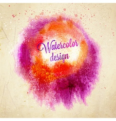 Abstract Watercolor Design vector