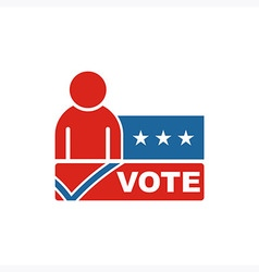 America Vote USA logo people icon vector image
