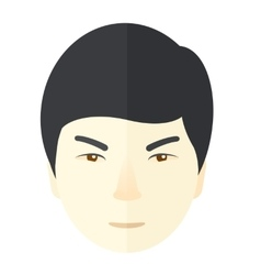 Angry japanese guy vector