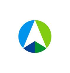 Arrow up navigation logo vector