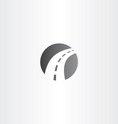 autoroad highway logo sign design vector image